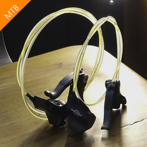 [MTB] Clear Hose 1-Finger Brake Set